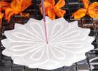 Vit Lotus  rökelsehållare i alabaster
