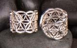 Öronsmycken ,Livets blomma, silver