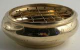 Rökelsekärl i mässing 8 cm i diameter
