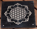 Rökelsehållare Livets blomma mandala 2 st