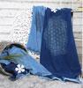 Strandhandduk blå med Livets Blomma