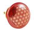 Dörrknopp i keramik med Livets blomma, röd