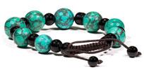 Armband med turkos och svart onyx