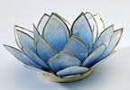 Lotusblomma för värmeljus, blå