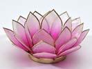 Lotusblomma för värmeljus, rosa