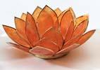 Lotusblomma för värmeljus, orange