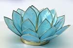 Lotusblomma för värmeljus, akvamarin