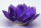 Lotusblomma för värmeljus, lila
