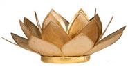 Lotusblomma för värmeljus, beige
