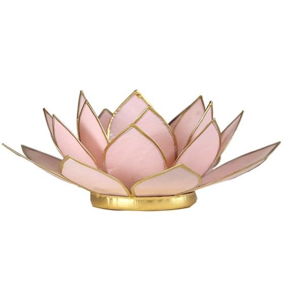 Lotusblomma för värmeljus, ljusrosa